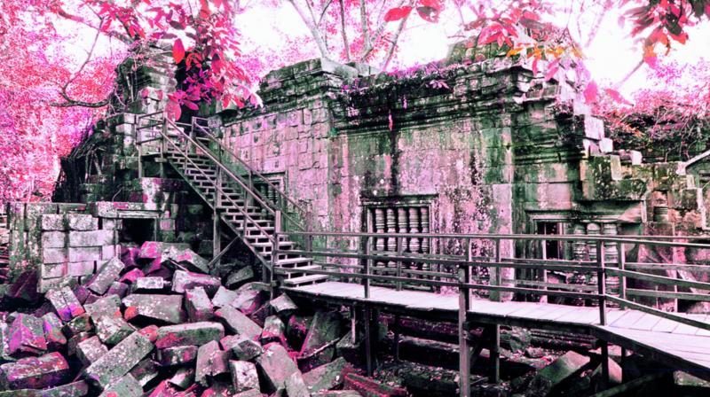 Amita Talwar's work titled Angkor Revisited.