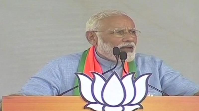 'The second big mistake the terrorists made was in Pulwama after which we killed them in their home through air strikes,' Modi said. (Image: ANI)