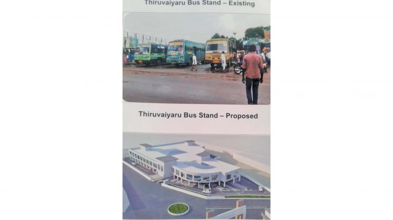 Proposed model of old bus stand which is under re-construction now in Thanjavur. (Photo: DC)