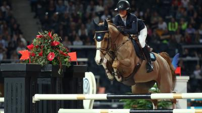 The indoor cross-country competition was packed with a lot of energy and action. (Photo: AFP)