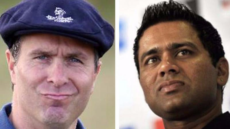 Michael Vaughan and Aakash Chopra were involved in a war of words on Twitter over Kagiso Rabada's one-match ban. (Photo: AFP / BCCI)