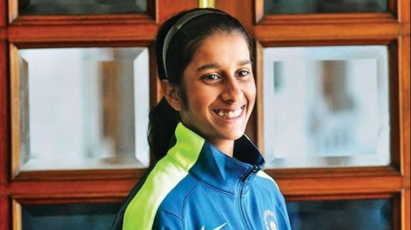 """To play for India was my dream and that's why I started playing cricket, that one day I will play for India. Looking back or even now, I can't exactly believe that I am playing for India,"" said the 17-year-old Jemimah Rodrigues. (Photo: Instagram / Jemimah Rodrigues)"