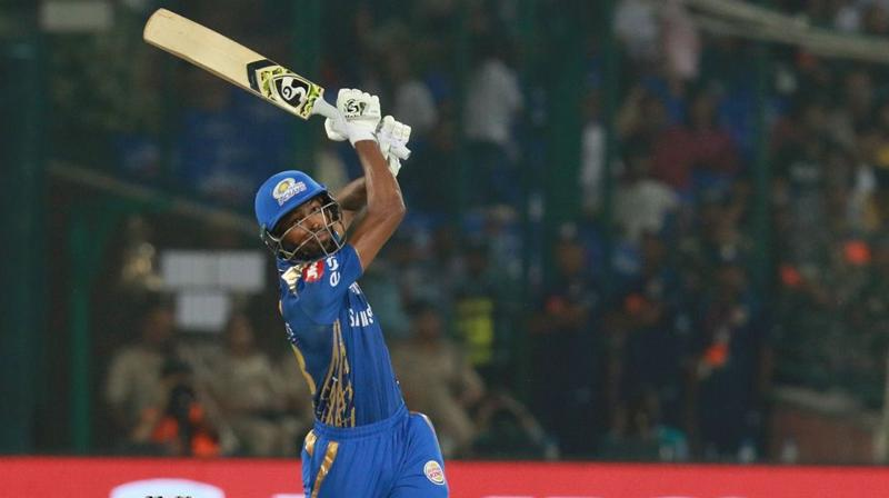Hardik Pandya smashed 32 off 15 balls to power Mumbai Indians to 168 for five, a total which Delhi Capitals found too stiff to chase, going down by 40 runs. (Photo: BCCI)