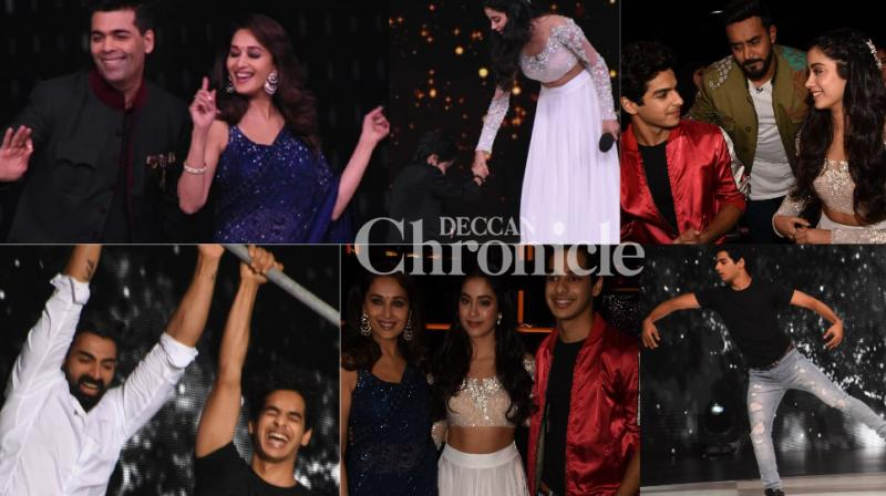 The team of 'Dhadak' promoted the film on the sets of the reality show 'Dance Deewane' in Mumbai on Tuesday. (Photos: Viral Bhayani)