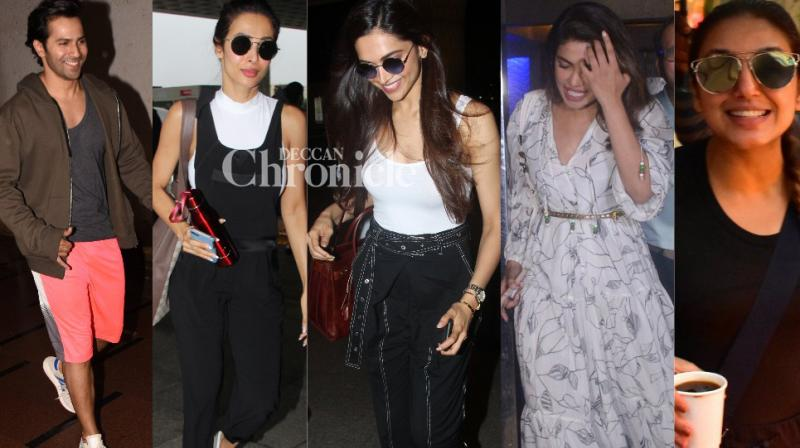 Bollywood celebrities went out and about in Mumbai on Tuesday and were snapped by the shutterbugs. (Photos: Viral Bhayani)