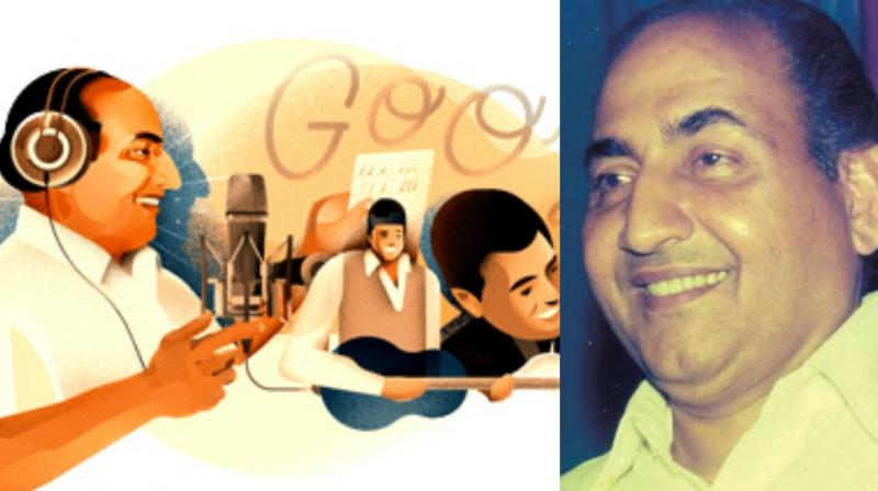 Google Doodle pays tribute to Mohammed Rafi, on his 93rd birth anniversary