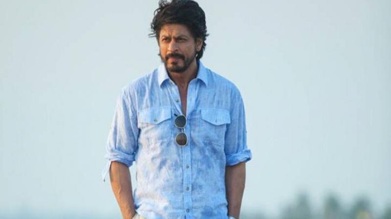 Shah Rukh Khan in a still from his last film.