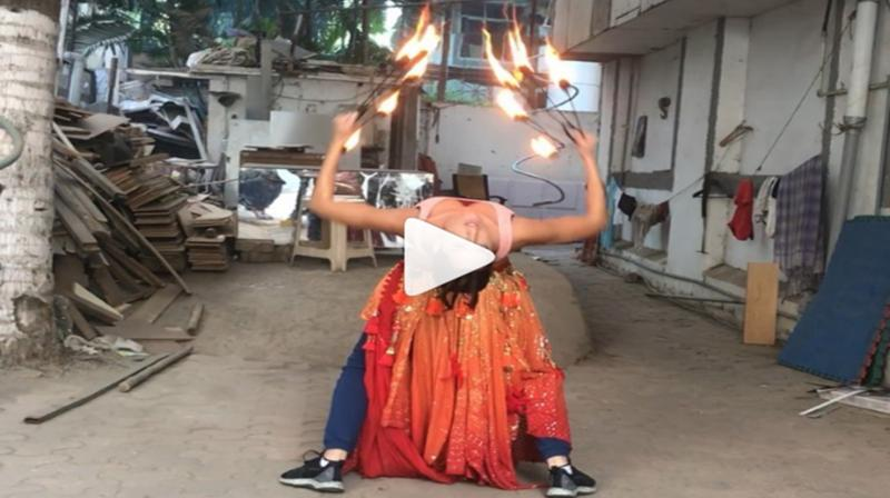 Video: Nora Fatehi training with fire hoops for 'O Saki Saki' is unmissable; watch