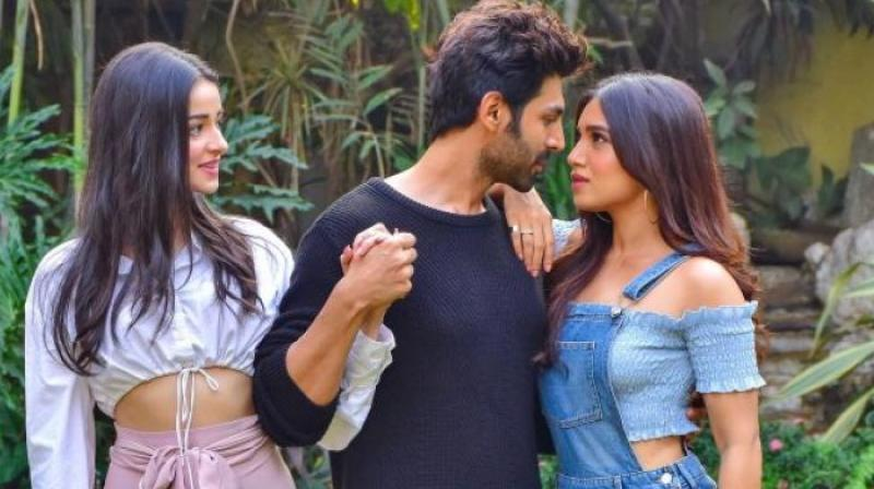 Ananya Panday, Kartik Aryan and Bhumi Pednekar.