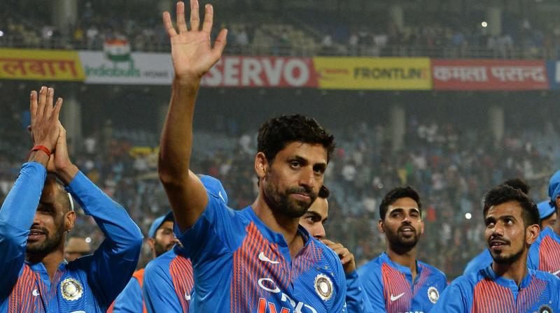 Nehra was asked by skipper Virat Kohli to bowl the last over the first T20 match, which India won by 53 runs. (Photo: APF)