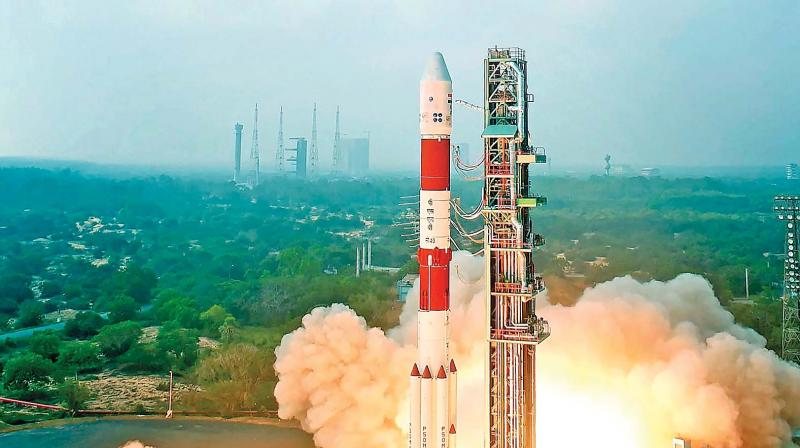 Stunning visuals of what happened after ISRO's PSLV-C40 satellite liftoff