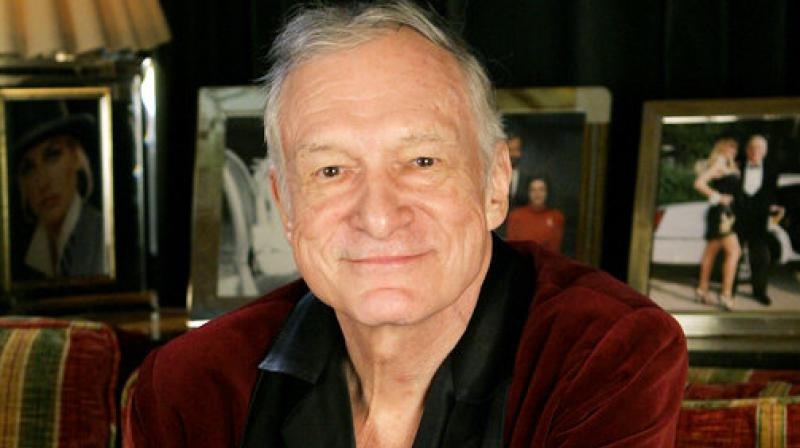 In this April 7, 2006 file photo, Playboy founder Hugh Hefner is photographed at the Playboy Mansion in the Holmby Hills area of Los Angeles. Hefner has died at age 91.(Photo: AP)