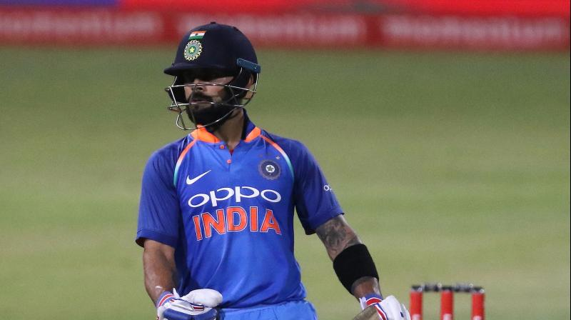 Virat Kohli brought up his 34th ODI ton as India scored 303 after South Africa in to bat in the third ODI  (Photo: AFP)