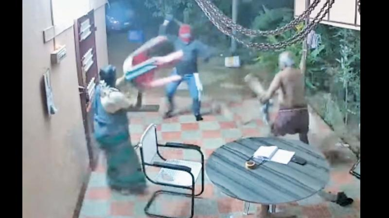 CCTV footage of the  incident. (Photo: DC)