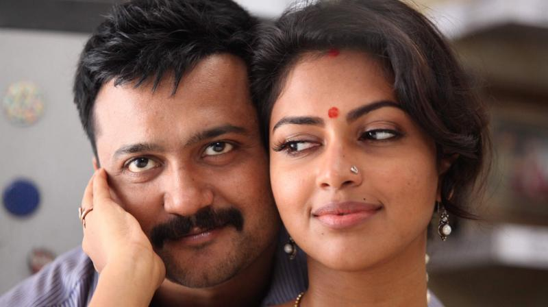 Bobby Simha and Amala Paul in a still from 'Thiruttu Payale 2.'
