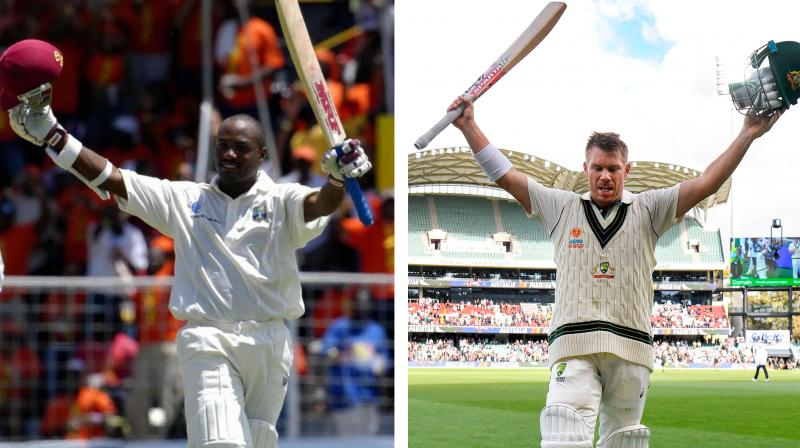 West Indies cricket legend Brian Lara has revealed that he was looking forward to congratulate David Warner had the Australian breached his record of highest individual Test score, just as Gary Sobers had done when he achieved the feat. Lara broke the record of highest individual Test score twice, first when he overtook compatriot Gary Sober's 36-year-old record of 365 by scoring 375 against England in 1994 and then again when he bettered his own record to reach 400 in 2004.(Photo:AFP)