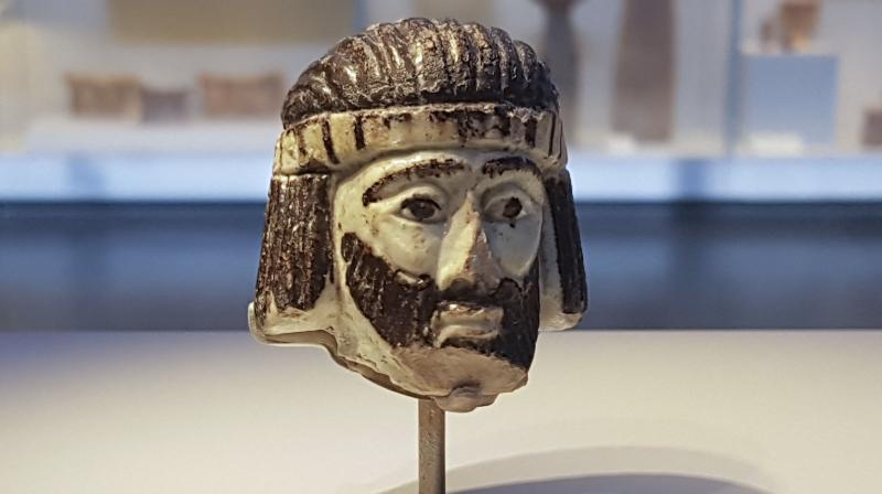 This Monday, June 4, 2018 photo shows a detailed figurine of a king's head on display at the Israel Museum, dating to biblical times, and found last year near Israel's northern border with Lebanon, in Jerusalem. (Photo: AP)