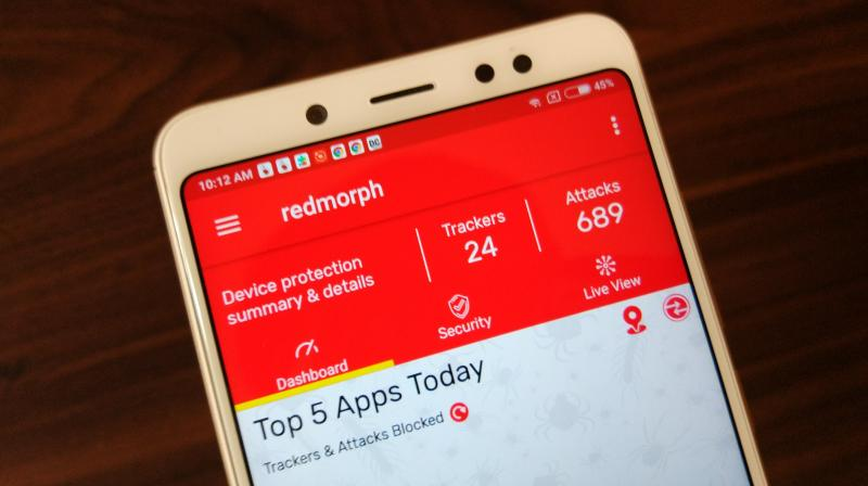 If keeping a tab on all the incoming and outgoing traffic on your device is your idea of keeping your device safe from malicious intentions, then Redmorph's Privacy Solution app is recommendable. (Photo: Deccan Chronicle)