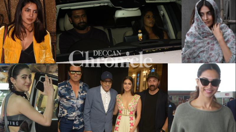 Bollywood celebrities were clicked at various locations in Mumbai and Delhi on Friday. (Photos: Viral Bhayani)