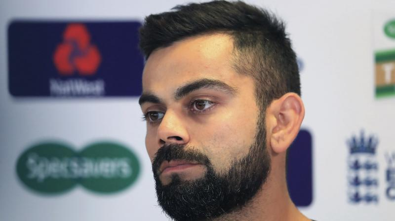 The national selection committee is awaiting an update on India skipper Virat Kohli's injured wrist as they get ready to announce the squad for the two-Test series against the West Indies. (Photo: AP)