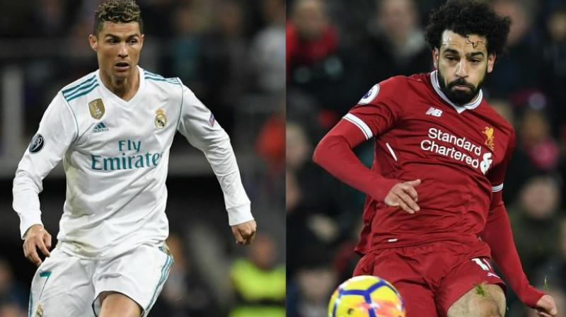 Cristiano Ronaldo believes the overhead bicycle kick he scored for Real Madrid against his current club Juventus last season was better than Mohamed Salah's which won the FIFA goal of the year award. (Photo: AFP)