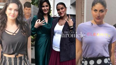 The four actresses met up for respective professional collaborations in Mumbai on Monday. (Photos: Viral Bhayani)