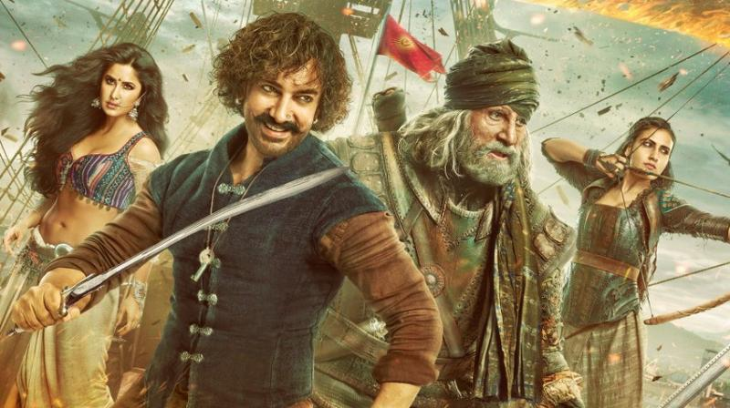 First poster of Katrina Kaif, Aamir Khan, Amitabh Bachchan and Fatima Sana Shaikh's 'Thugs of Hindostan.'