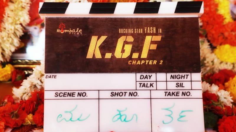 KGF 2 shoot begins. (Photo: Twitter)
