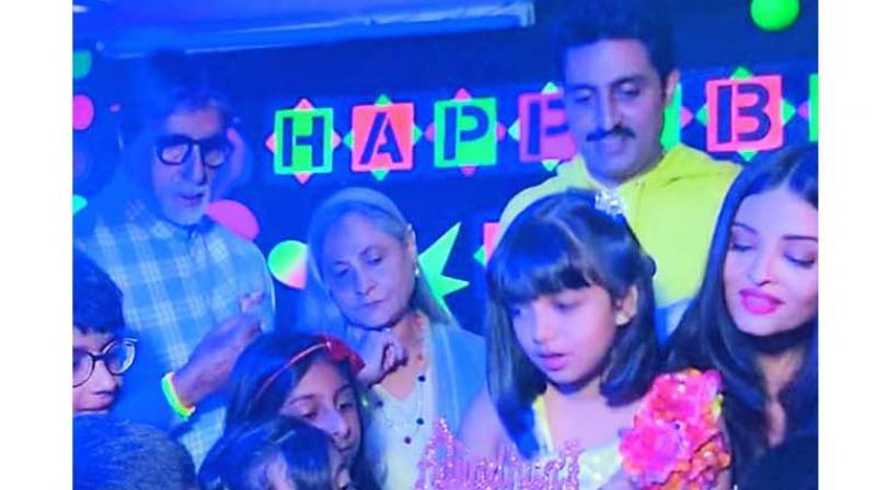 Aishwarya Rai Bachchan's daughter Aaradhya Bachchan turned eight.