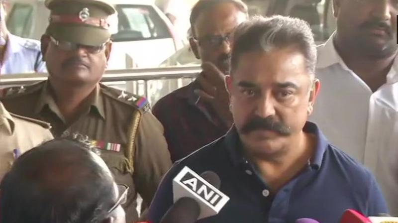 Haasan, founder of new political outfit Makkal Needhi Maiam (MNM), kicked up a controversy this week with his comment that 'free India's first extremist was a Hindu', a reference to Mahatma Gandhi's assassin Nathuram Godse. (Photo: ANI | Twitter)