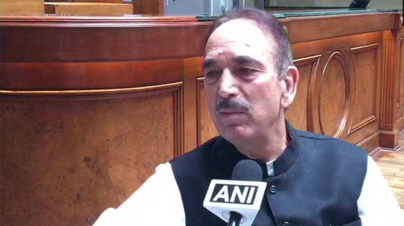 'Of course we are the biggest and oldest political party. If we have to run the government for five years biggest political party should be given a chance,' Azad said. (Photo: ANI | Twitter)
