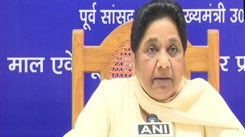 'On one hand BJP is not beginning the recruitments on the seven lakh vacant government jobs and on the other hand it is also hurting the daily wage earners by reducing the sum allotted for rural employment,' Mayawati said.  (Photo: ANI)