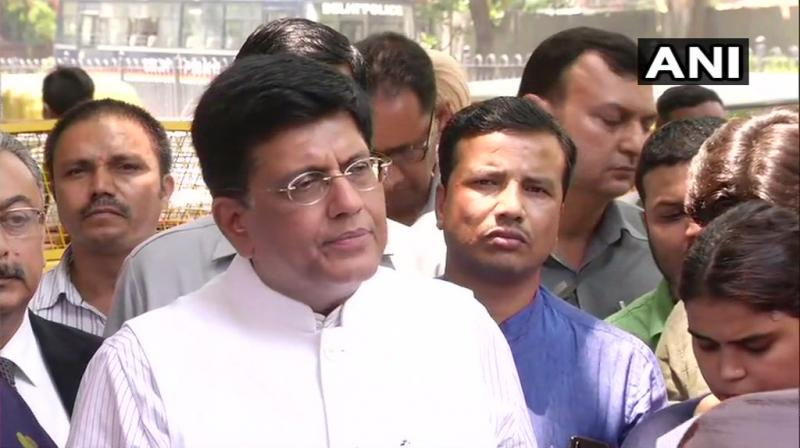 'We have also demanded that the EC to withdraw the false cases made against BJP leaders in West Bengal,' Piyush Goyal also added. (Photo: ANI)