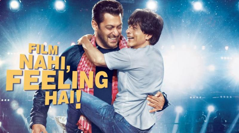 Zero poster featuring Shah Rukh Khan and Salman Khan.