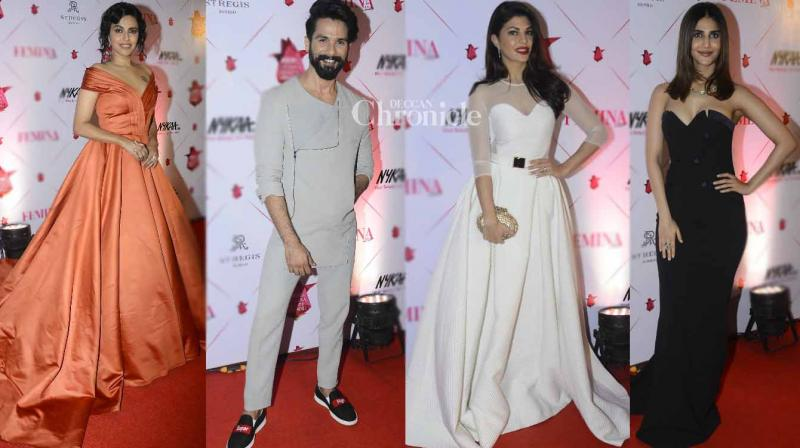 Numerous stars from the film industry were snapped at the Femina Beauty Awards held in Mumbai on Wednesday. (Photo: Viral Bhayani)