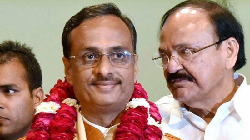 Uttar Pradesh Deputy Chief Minister Dinesh Sharma on Friday was announced as the leader of the legislative council of the state assembly. (Photo: ANI/Twitter)