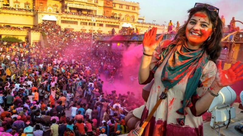 One of the most celebrated festivals of India, Holi is here and people can't wait to usher in more colour into their lives. A symbol of triumph of good over evil, Holi is the harbinger of spring and is also celebrated to show gratitude for a good harvest. (Photo: PTI)