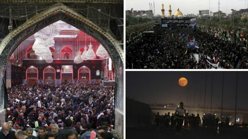 Thousands walk from Baghdad to the holy city of Karbala to mark the martyrdom of the Imam. Some walk for seven days while others for 10 days.
