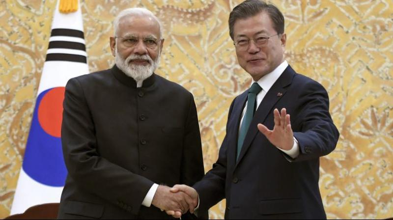 During their meeting, the two leaders expressed mutual desire to synergise India's Act East Policy with South Korea's New Southern Policy. (Photo: File | AP)