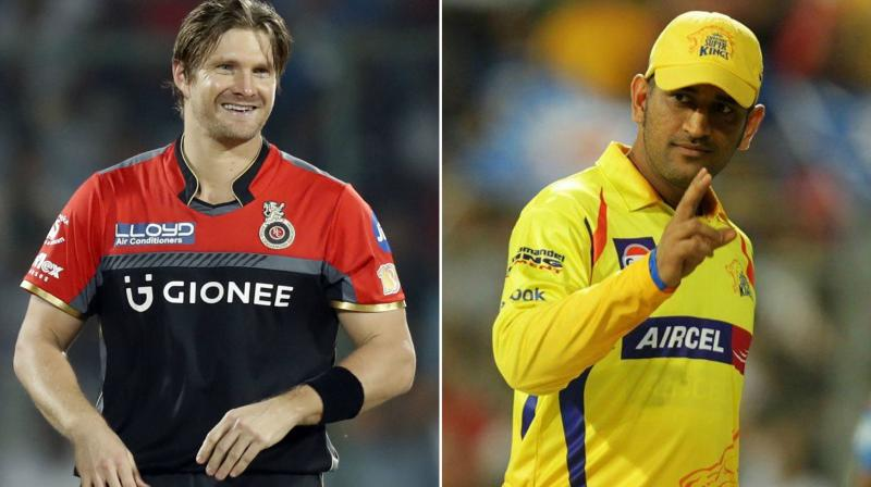 Shane Watson (left) for Rs 4 crore by MS Dhoni's Chennai Super Kings which was four times his base price. (Photo: AP)