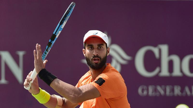 Yuki Bhambri had shocked the tennis world by demolishing Citi Open defending champion and world number 22 Gael Monfils in August 2017. (Photo: PTI)