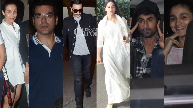 Bollywood personalities were clicked amid their professional and personal commitments in Mumbai on Tuesday. (Photos: Viral Bhayani/ Twitter)