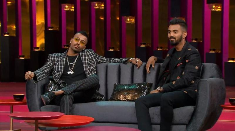 Pandya appeared on the show, hosted by filmmaker Karan Johar, with his India teammate KL Rahul. (Photo: Screengrab)