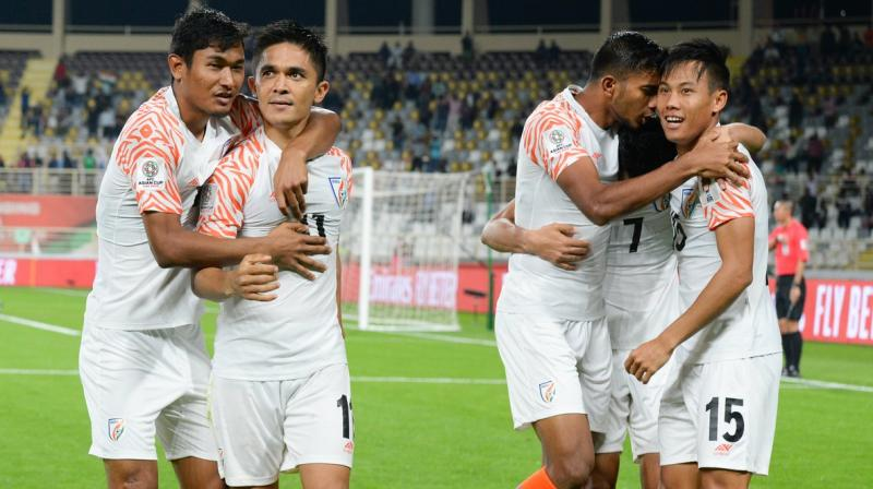 Sunil Chhetri hogs the limelight wherever he goes, and the Blue Tigers will again look up to him upfront. (Photo: AIFF)
