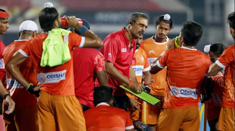 The Junior World Cup-winning coach took charge after India's medal-less showing at the Gold Coast Commonwealth Games but was unable to change the team's fortunes. (Photo: Hockey India/Twitter)