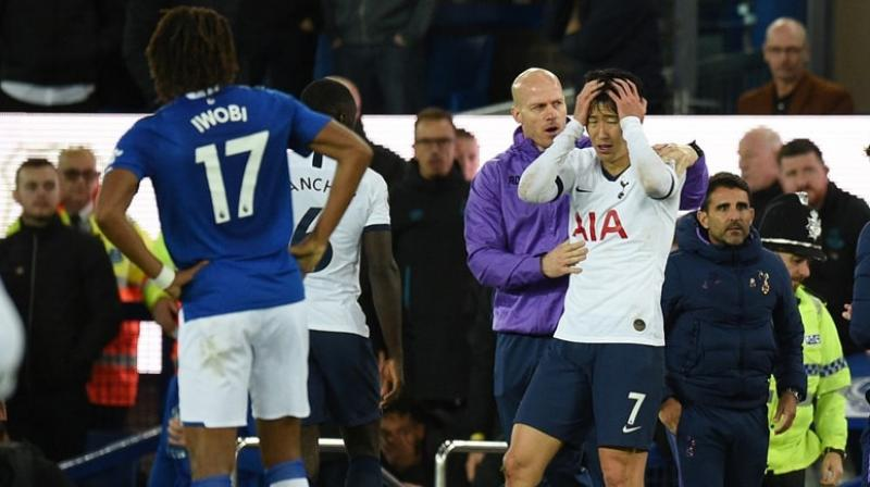 Tottenham Hotspur forward Son Heung-min won his appeal Tuesday against the red card he received for a challenge that led to the horrific injury suffered by Everton midfielder Andre Gomes.  (Photo:AFP)