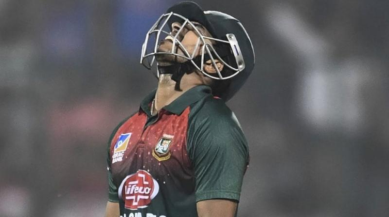 As per a report by espncricinfo.com, Bangladesh's Soumya Sarkar and one more player vomited on the field during the first T20I, which was held in New Delhi on Sunday. (Photo:AFP)