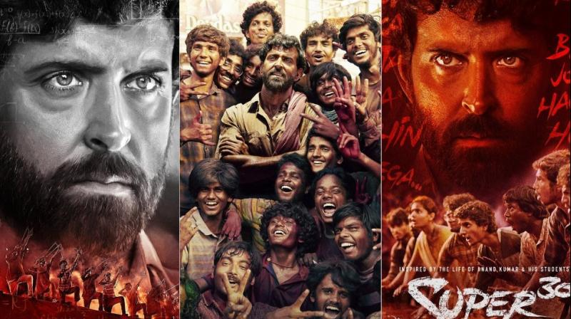 Posters of Hrithik Roshan's 'Super 30.'