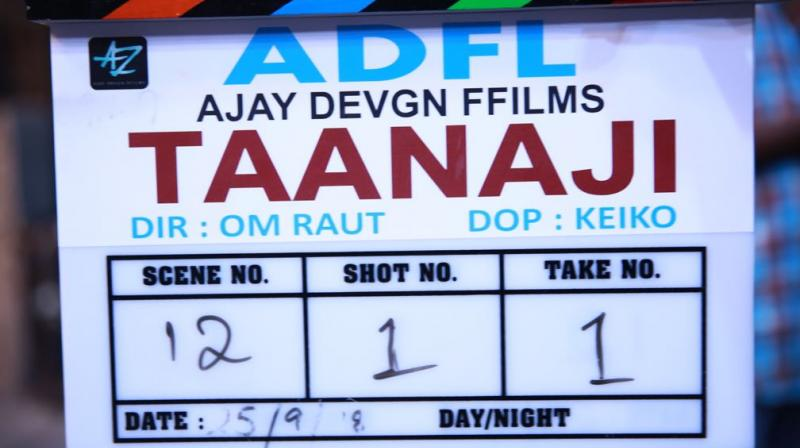 Taanaji shoot begins.