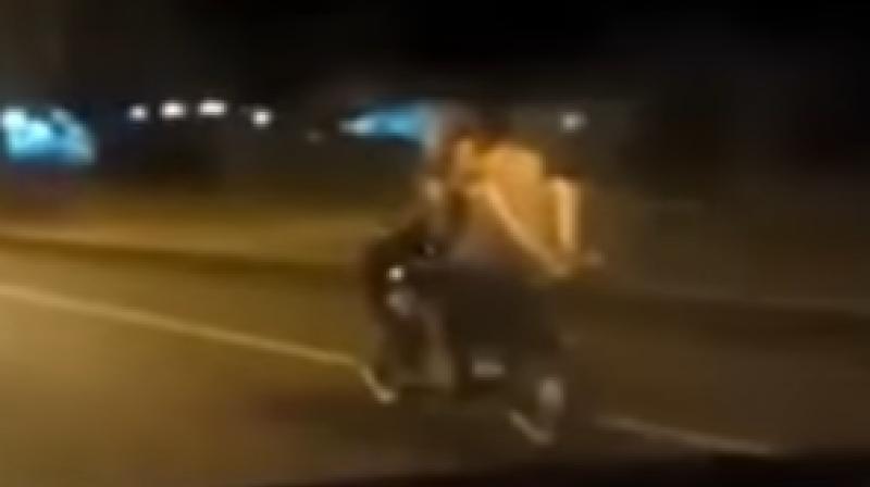 Girls having sex on bikes